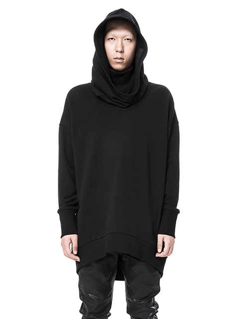 Black Long Over Hoodie