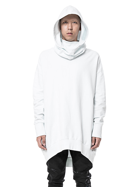White Long Over Hoodie