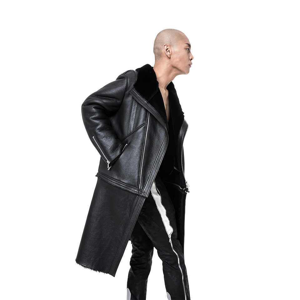Trans Leather Mutton Jacket