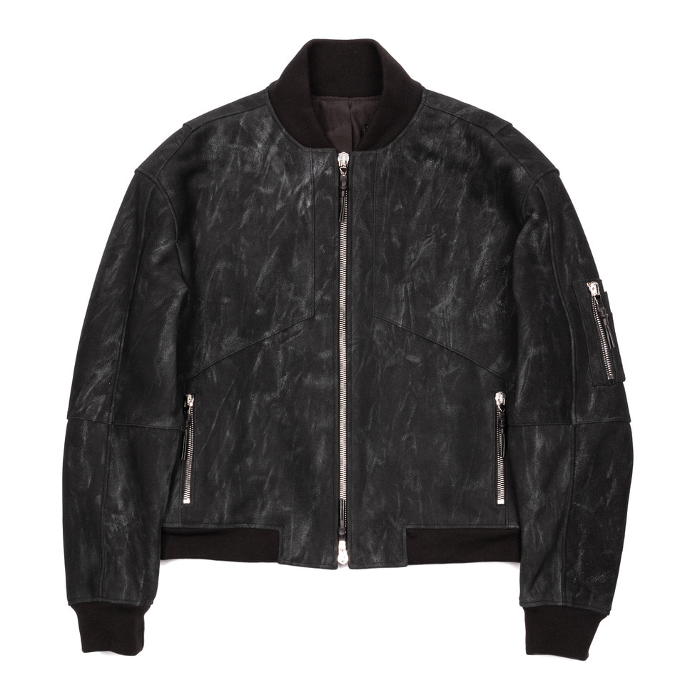 Leather Blouson Silver Dust