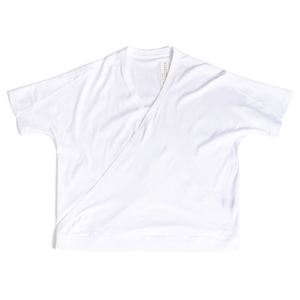 Crossed Silket T-shirt _White