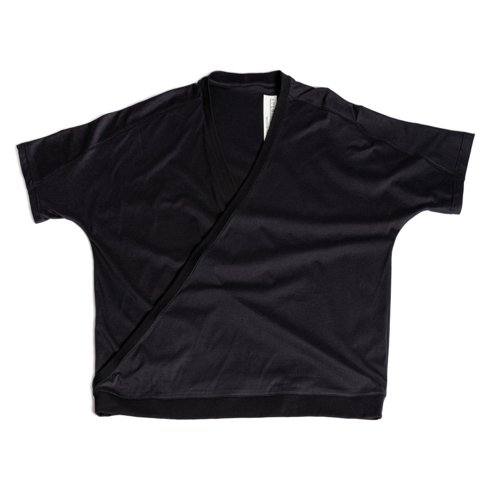 Crossed Silket T-shirt _Black