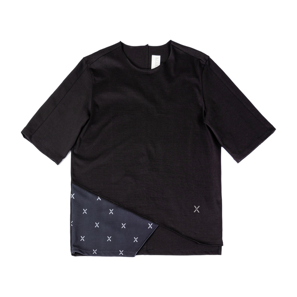Oblique X Flag T-shirt _Black